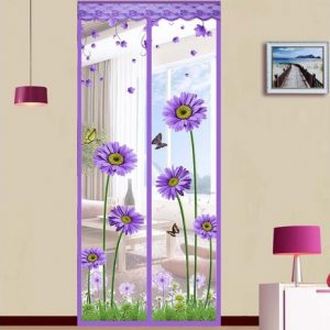 Perdea magnetica anti insecte model floral sau simplu