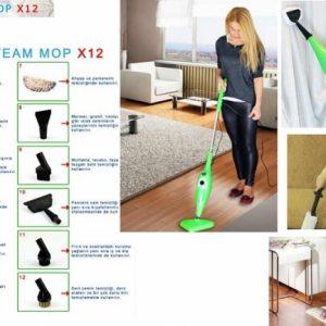 Steam Mop 12 in 1, curata si dezinfecteaza casa